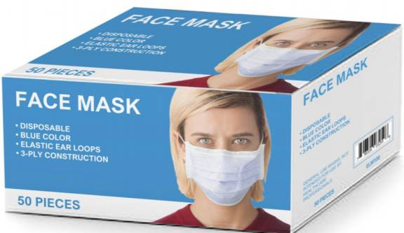 3-Ply Pleated Face Masks with Earloops